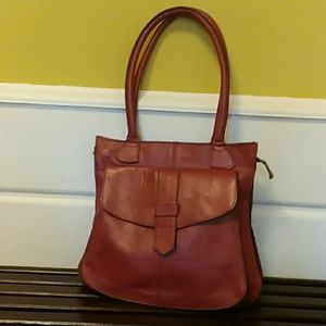 SALE Vintage Leather Burnt Orange Purse Yidi